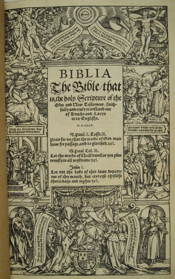 Bible in English, 1535 | Rare Bible Collection @ MOBIA
