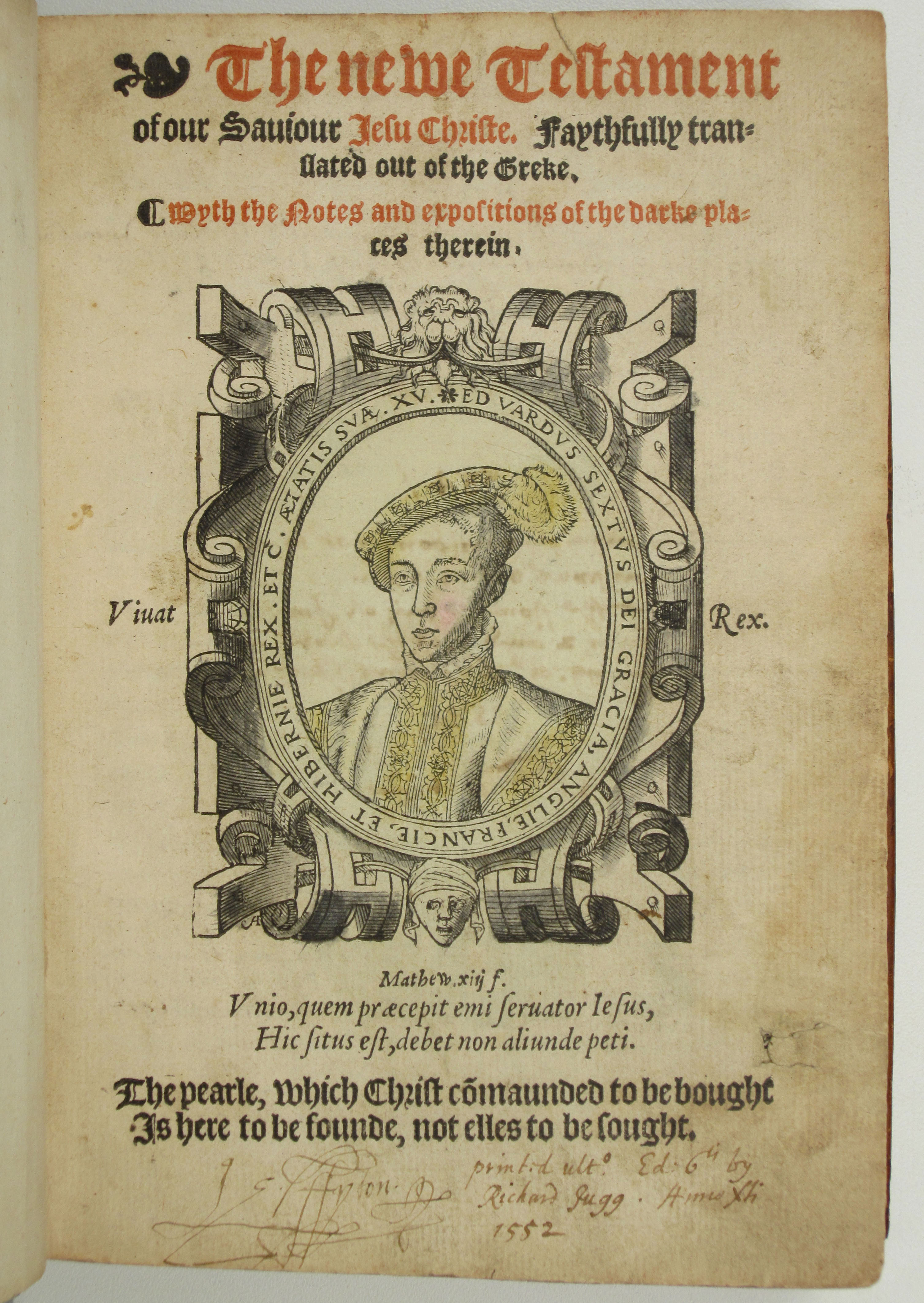 The earliest English translations of the Bible ever printed were the work  of William Tyndale, an Oxford scholar born in the early 1490s, who  dedicated his ...