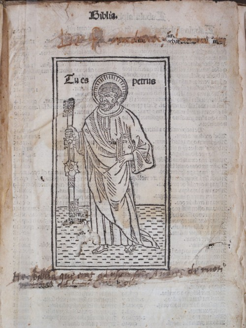 Bible in Latin 1492 - Title page